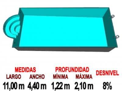 Piscina de Fibra de vidrio Romana A110